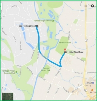 Directions from Heritage Hotel to Ballentine Park